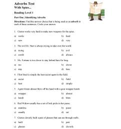 Identifying Adverbs Test - Reading Level 1   Preview [ 3597 x 2780 Pixel ]