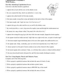 Capitalization Worksheets For 4th Grade   Printable Worksheets and  Activities for Teachers [ 3047 x 2355 Pixel ]