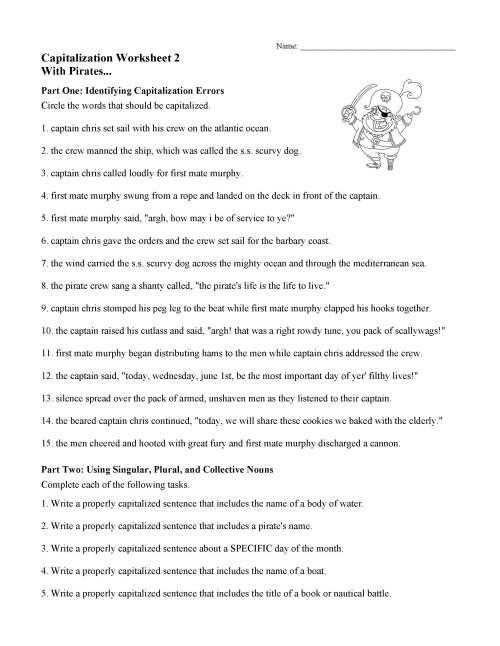 small resolution of Capitalization Worksheets For 4th Grade   Printable Worksheets and  Activities for Teachers