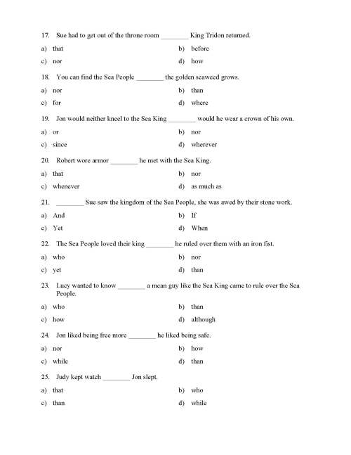 small resolution of Choosing the Right Conjunction Worksheet - Reading Level 1   Preview