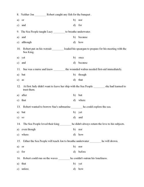 small resolution of Choosing the Right Conjunction Worksheet - Reading Level 2   Preview
