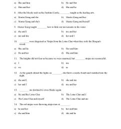 Choosing the Correct Pronoun Test with Ninjas - Reading Level 2   Preview [ 2200 x 1700 Pixel ]