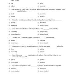Superlative And Comparative Worksheets 3rd Grade   Printable Worksheets and  Activities for Teachers [ 2200 x 1700 Pixel ]