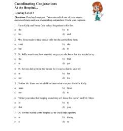 Coordinating Conjunctions Worksheet - Reading Level 1   Preview [ 3597 x 2780 Pixel ]