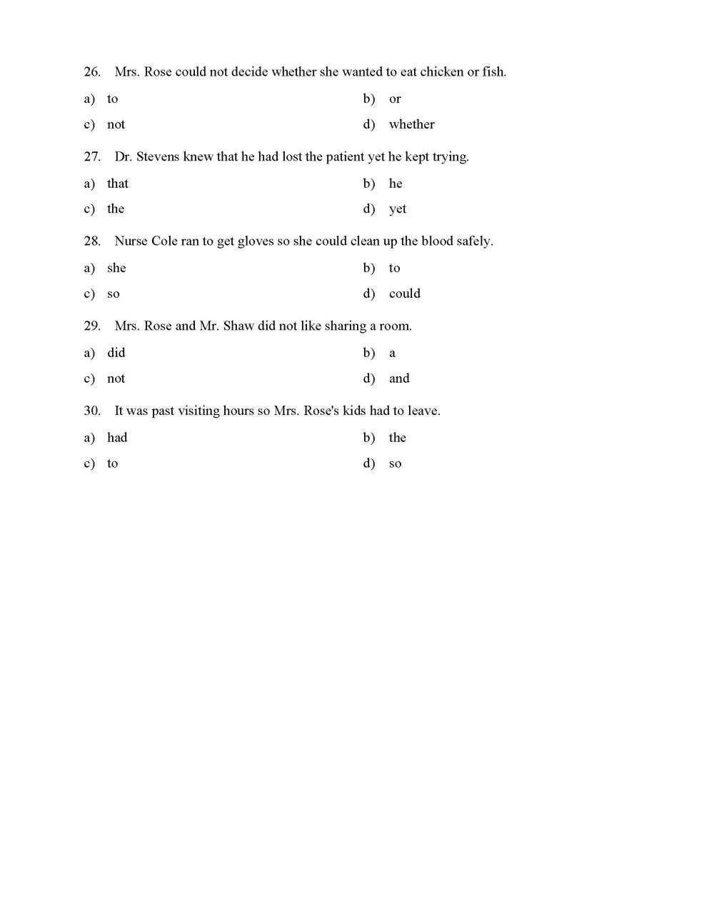 medium resolution of Coordinating Conjunctions Worksheet - Reading Level 1   Preview