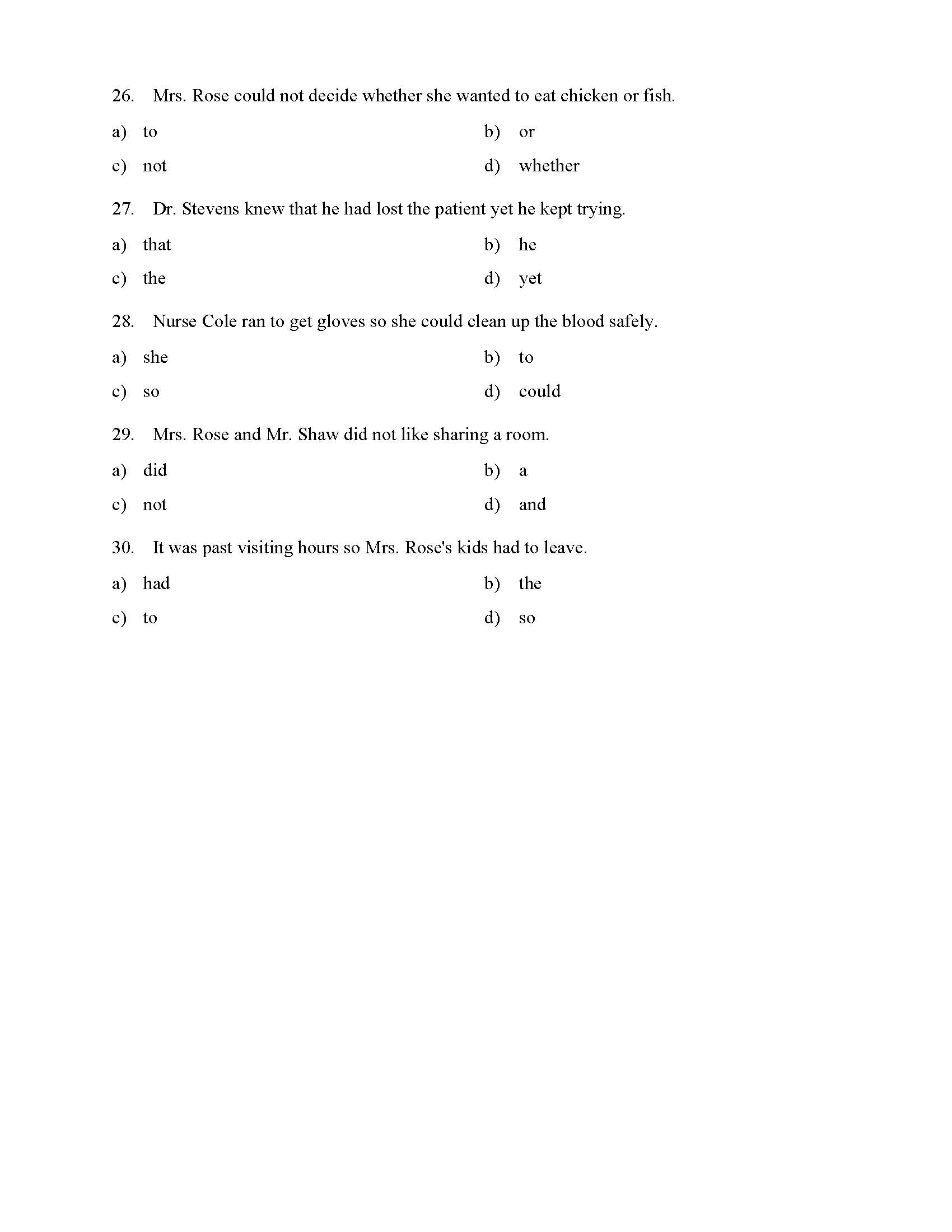 hight resolution of Coordinating Conjunctions Worksheet - Reading Level 1   Preview