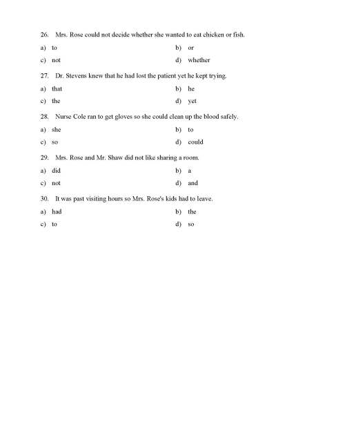 small resolution of Coordinating Conjunctions Worksheet - Reading Level 1   Preview