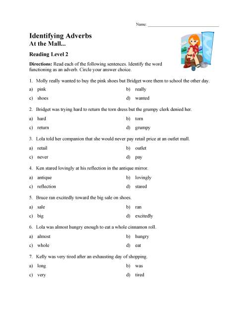 small resolution of Find Adverb Worksheet   Printable Worksheets and Activities for Teachers