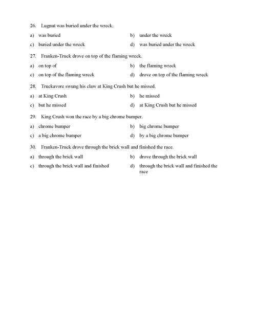 small resolution of Prepositional Phrases Worksheet 1 - Reading Level 1   Preview