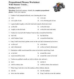 Prepositional Phrases Worksheet 1 - Reading Level 2   Preview [ 3597 x 2780 Pixel ]