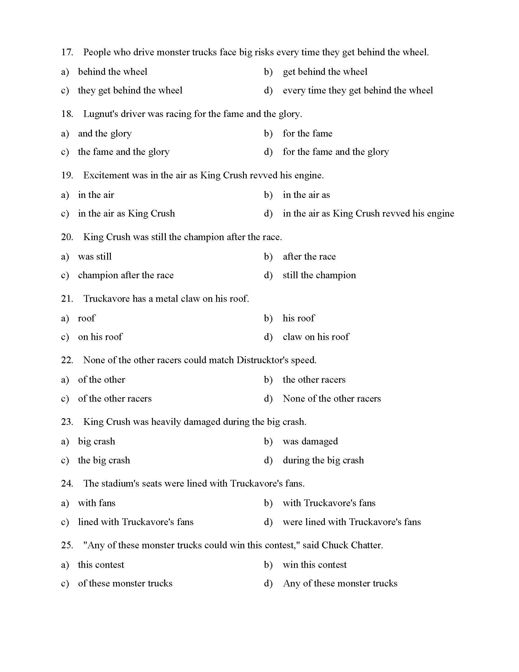 hight resolution of Prepositional Phrases Worksheet 1 - Reading Level 2   Preview