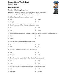 Preposition Worksheet 1 - Reading Level 2   Preview [ 3047 x 2355 Pixel ]