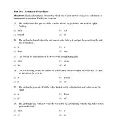 6th Grade Preposition Worksheet   Printable Worksheets and Activities for  Teachers [ 2200 x 1700 Pixel ]