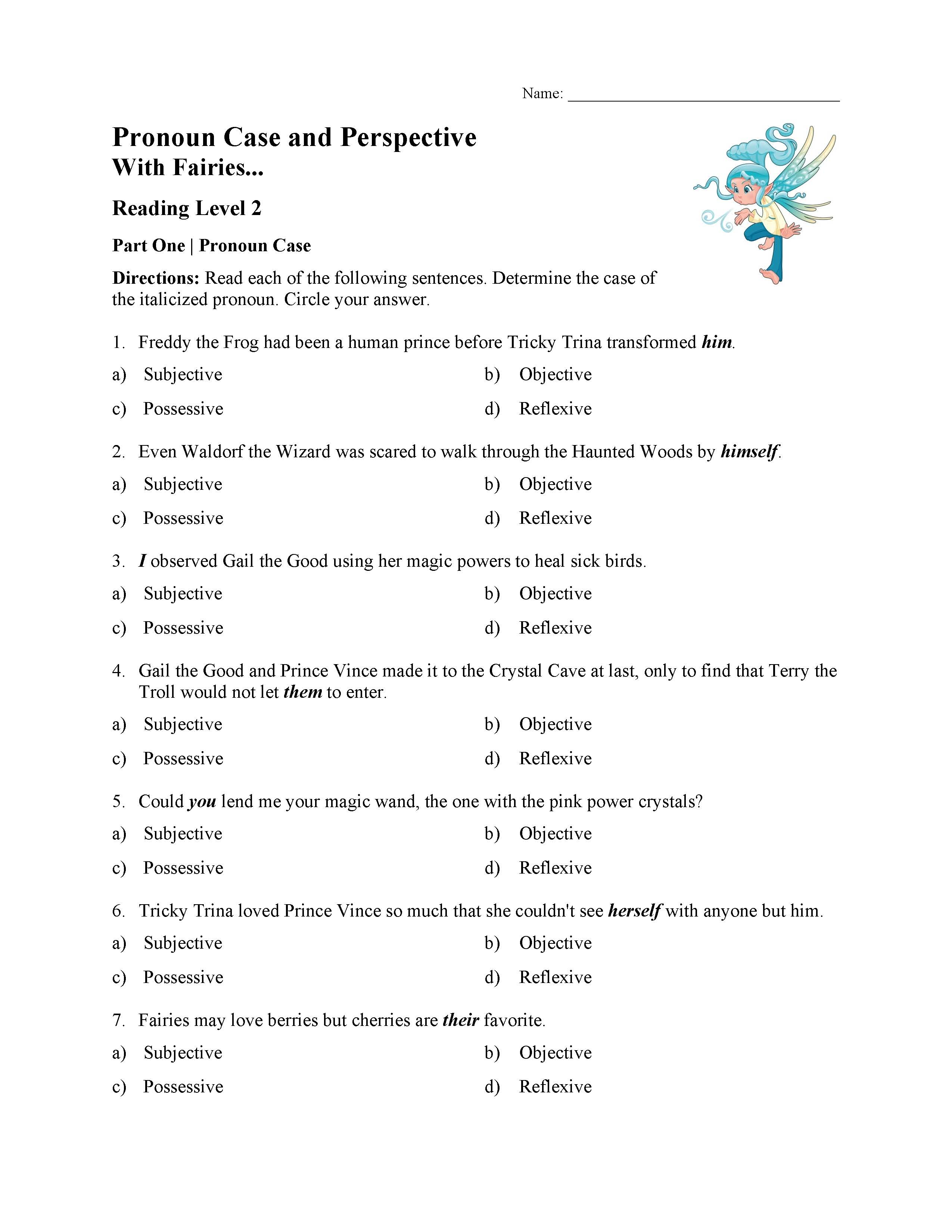 Pronoun Case And Perspective Test