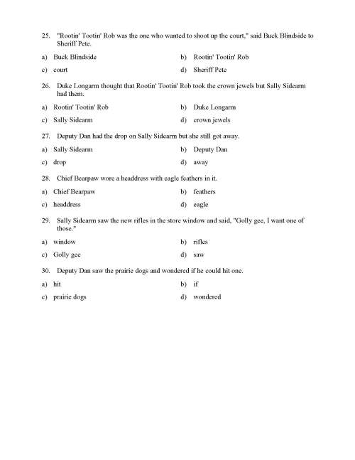 small resolution of Pronoun and Antecedent Test - With Cowboys   Reading Level 1   Preview