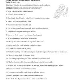 Subjects And Predicates Worksheet   Printable Worksheets and Activities for  Teachers [ 1386 x 1071 Pixel ]