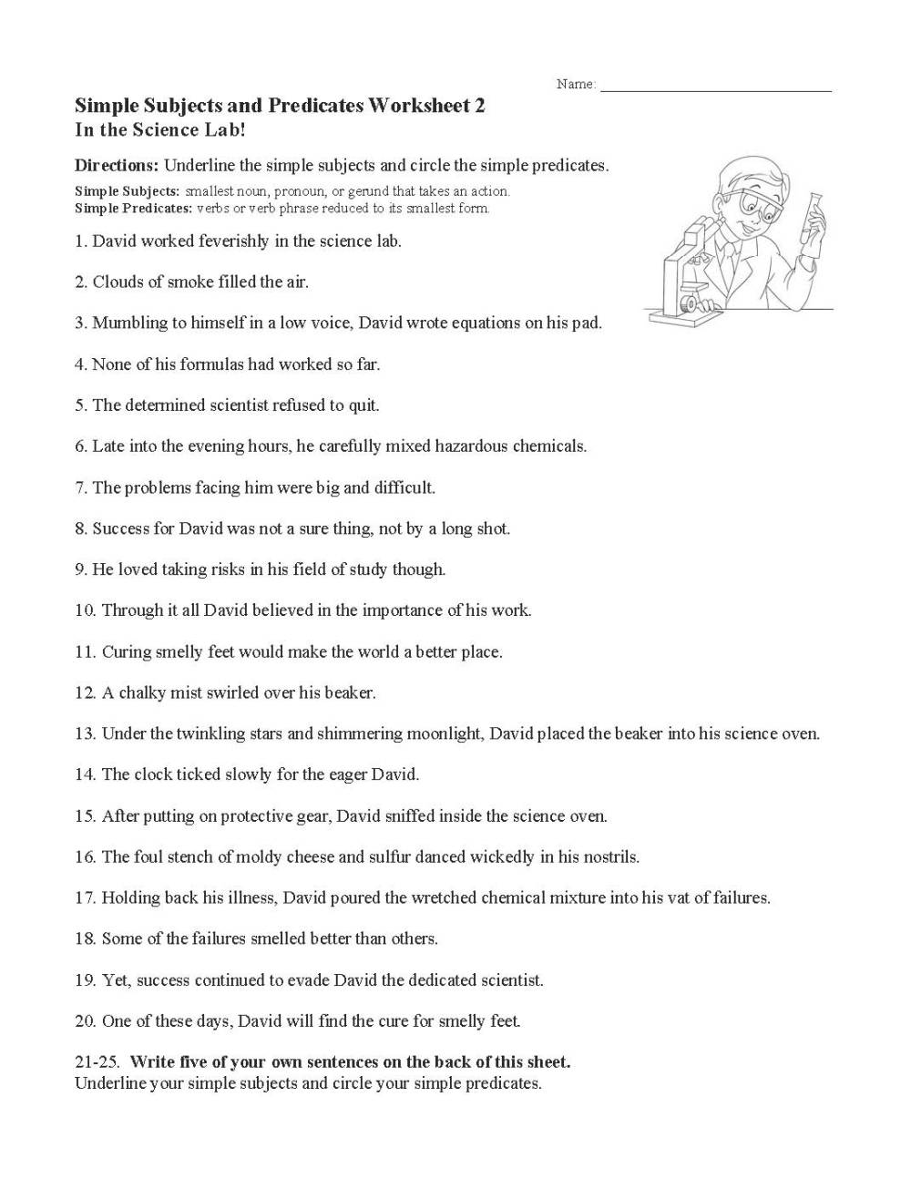 medium resolution of Subjects And Predicates Worksheet   Printable Worksheets and Activities for  Teachers