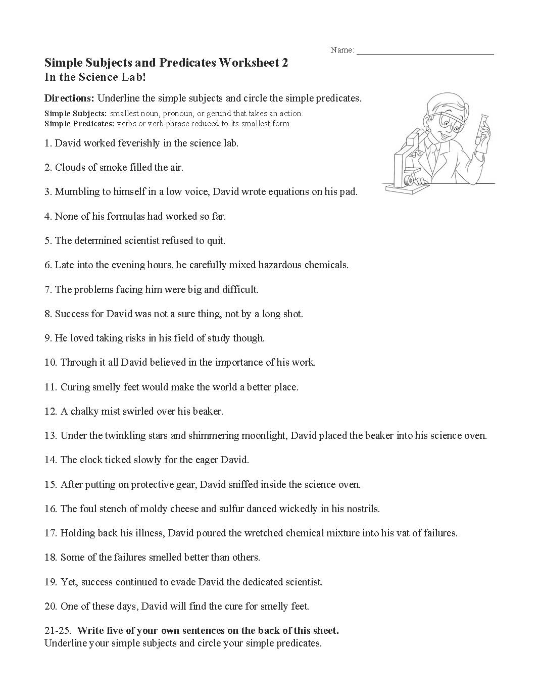 hight resolution of Subjects And Predicates Worksheet   Printable Worksheets and Activities for  Teachers
