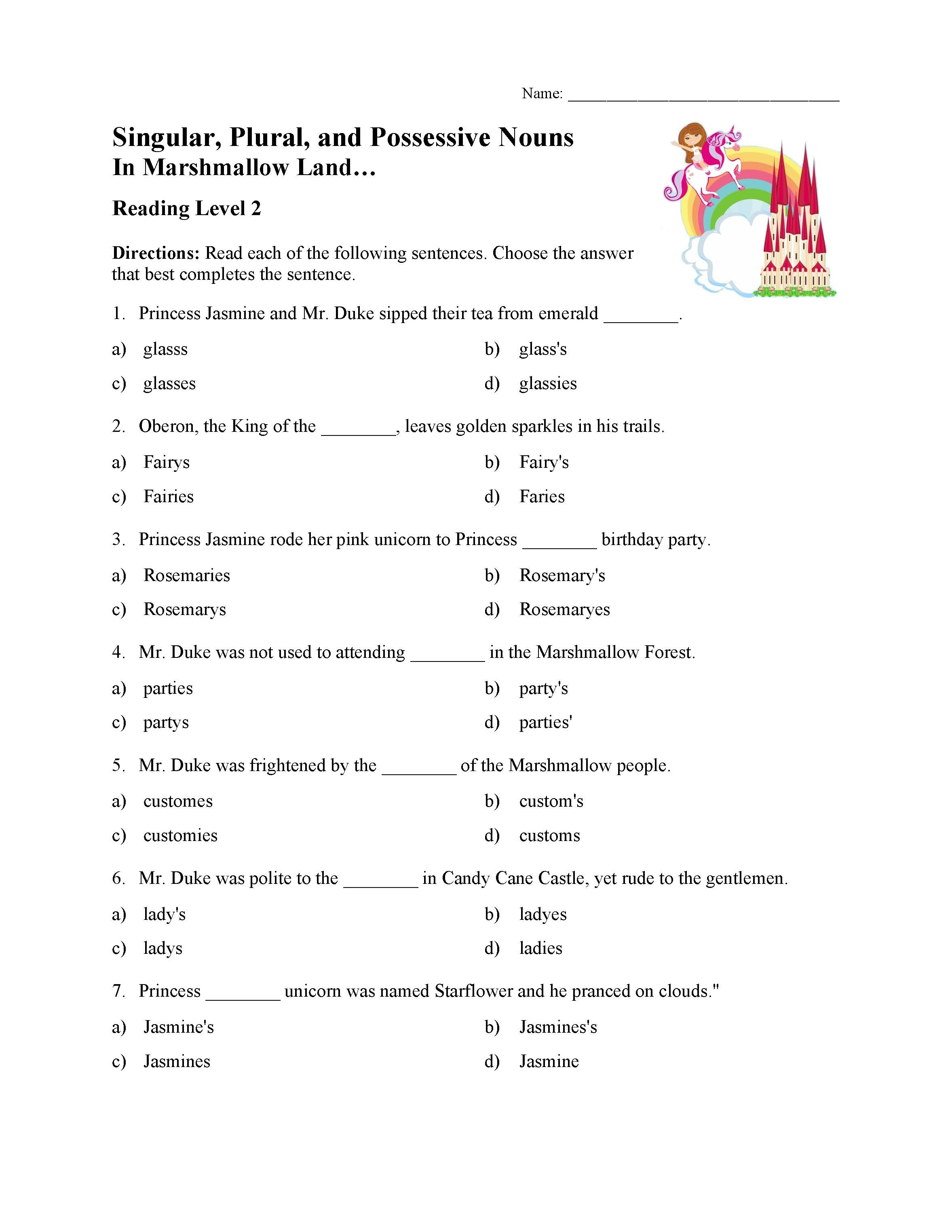 Possessive Nouns Worksheets 6th Grade