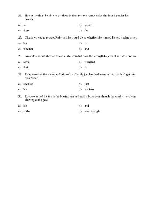 small resolution of Subordinating Conjunctions Worksheet - Reading Level 2   Preview