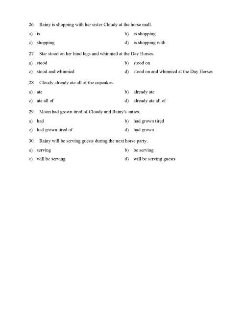 small resolution of Verb Phrases Test - With Horses   Reading Level 1   Preview