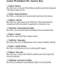 Genre Worksheet 10   Answers [ 2200 x 1700 Pixel ]