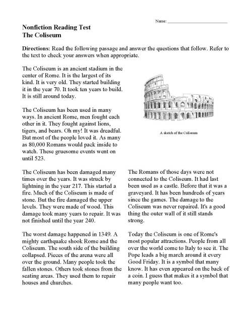 small resolution of Nonfiction Passages \u0026 Functional Texts   Reading Comprehension   Ereading  Worksheets