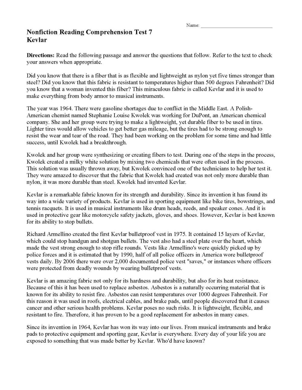 medium resolution of Nonfiction Passages \u0026 Functional Texts   Reading Comprehension   Ereading  Worksheets