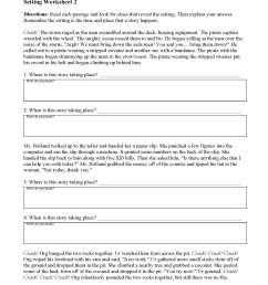 Setting Worksheets and Lesson   Ereading Worksheets   Ereading Worksheets [ 2200 x 1700 Pixel ]