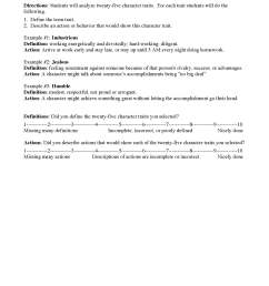 Characterization Worksheets   Ereading Worksheets [ 2200 x 1700 Pixel ]