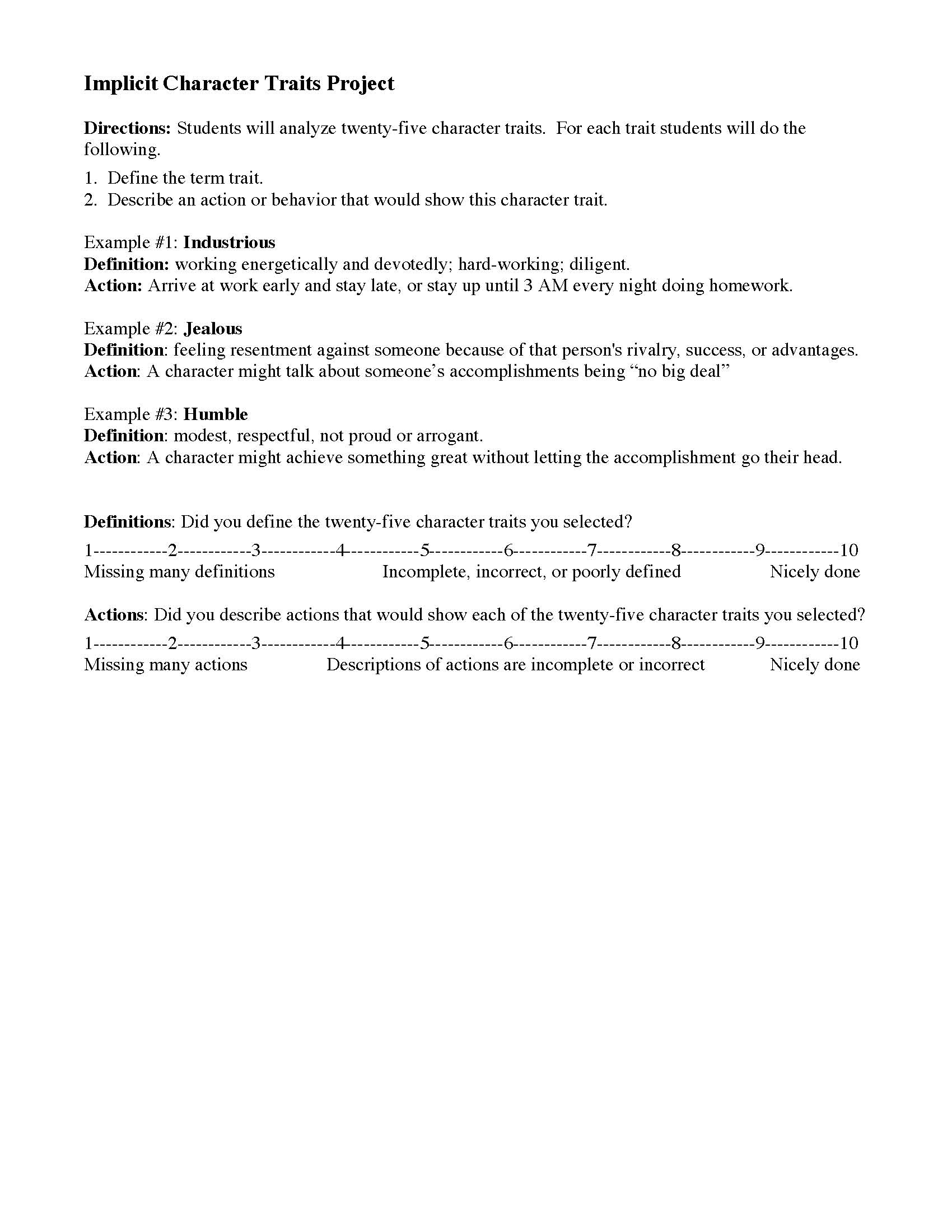 hight resolution of Characterization Worksheets   Ereading Worksheets