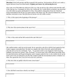 5th Grade Inference Worksheets   Printable Worksheets and Activities for  Teachers [ 2200 x 1700 Pixel ]