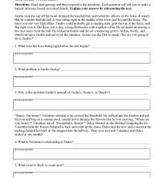 Inferences Worksheets   Ereading Worksheets [ 2200 x 1700 Pixel ]