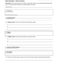 Story Structure Worksheets   Ereading Worksheets [ 2200 x 1700 Pixel ]