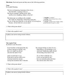 Tone Worksheets   Ereading Worksheets [ 2200 x 1700 Pixel ]