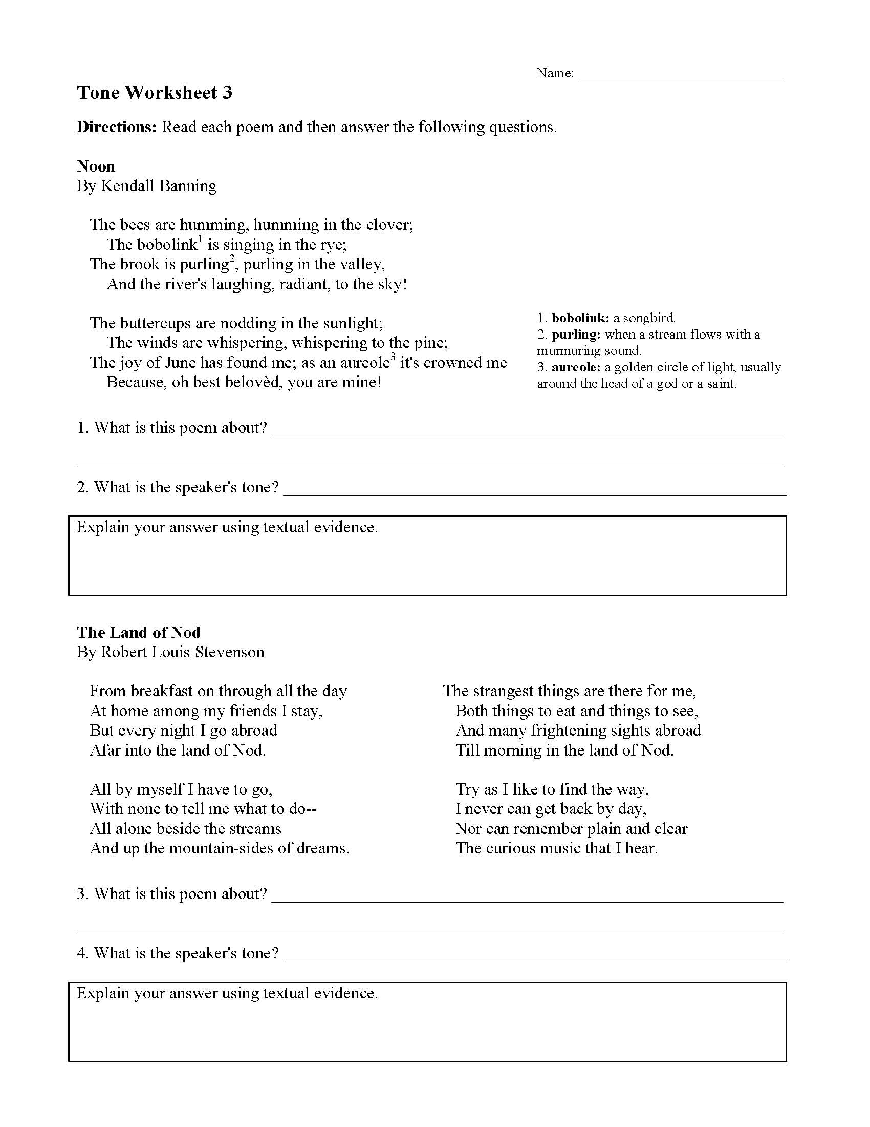 hight resolution of Tone Worksheets   Ereading Worksheets
