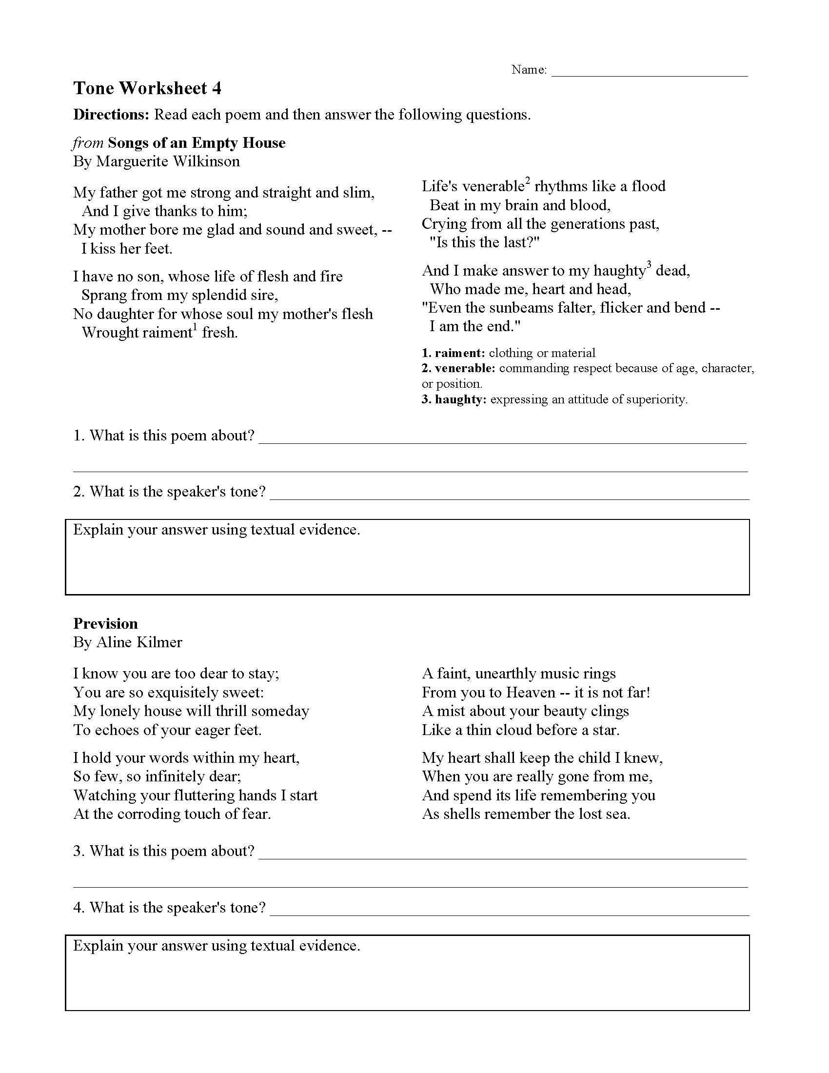 hight resolution of Tone Worksheets   Ereading Worksheets