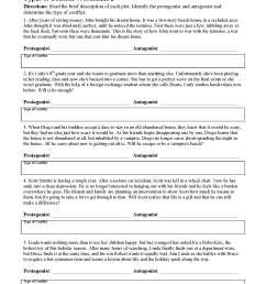 Types of Conflicts in Stories - Worksheets \u0026 Lessons   Ereading Worksheets [ 2200 x 1700 Pixel ]