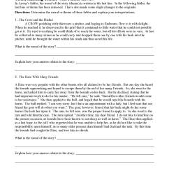 Theme or Author's Message Worksheets   Ereading Worksheets [ 2200 x 1700 Pixel ]