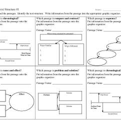 Text Structure Worksheet   Printable Worksheets and Activities for  Teachers [ 1700 x 2200 Pixel ]