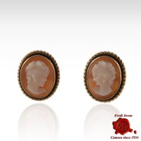 Antique Cameo Earrings Shell 18 Kt. Gold Factory Prices ...