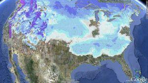 January 2011 Snow Map
