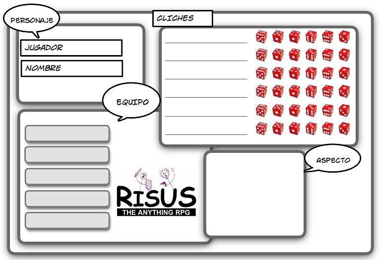 Hoja de personaje para Risus, diseñada por Felipe León   Padre ...
