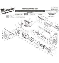 milwaukee 6509 20 a17c sawzall parts erepair source [ 1000 x 1000 Pixel ]