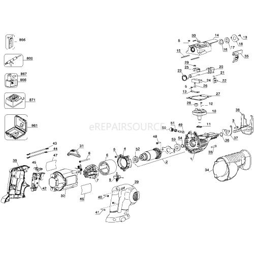 small resolution of wiring diagram de walt dw306 wiring librarydewalt dc385k br type 2 reciprocating saw parts