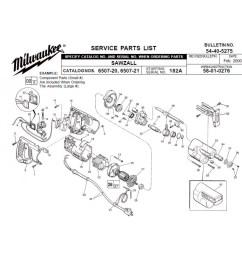milwaukee 6507 20 182a sawzall parts erepair source hvac wiring diagrams sawzall wiring diagram [ 1000 x 1000 Pixel ]