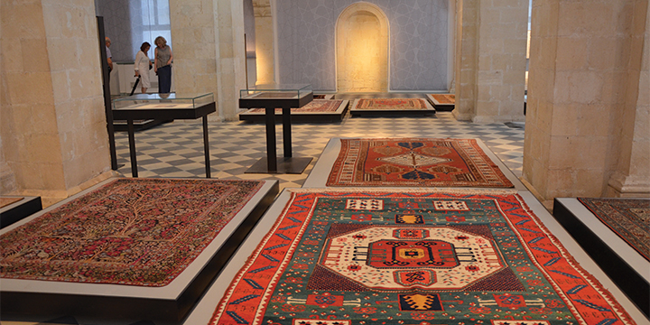 The main halls is hosting an exhibition on rugs. (Sarah Novak)