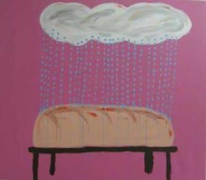 אלעד רוזן - גשםלחם. אקריליק על בד, 2010