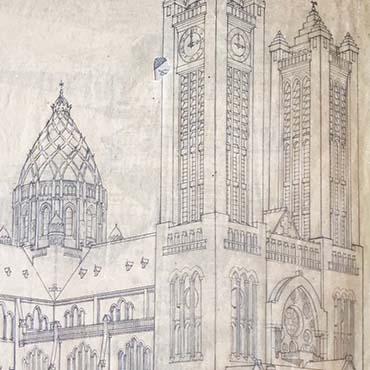 Kunstzinnige pop-up kaarten van monumenten en gebouwen