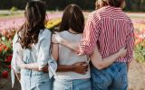 Group of girls hugging each other